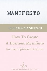 Creating A Business Manifesto