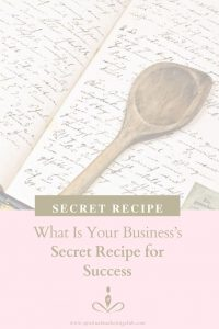 Your Business's Secret Recipe For Success