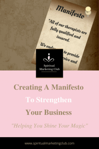 how to create a manifesto for your business