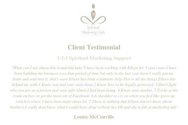 products from spiritual marketing club courses and coaching sessions