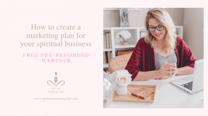 free marketing plan for your spiritual business